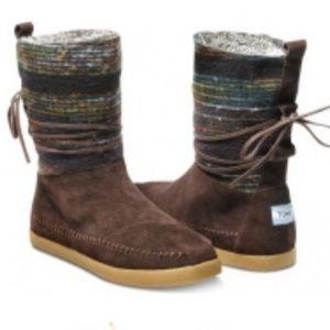 TOMS Wool Stripe Nepal Boot in Brown